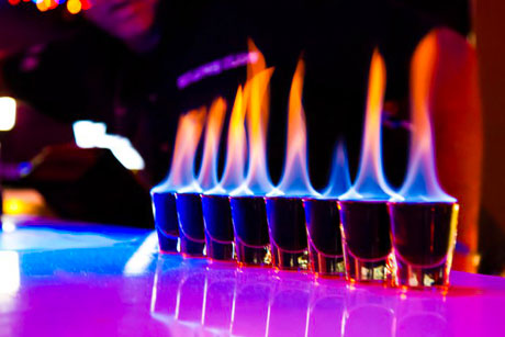 flaming tequila shots